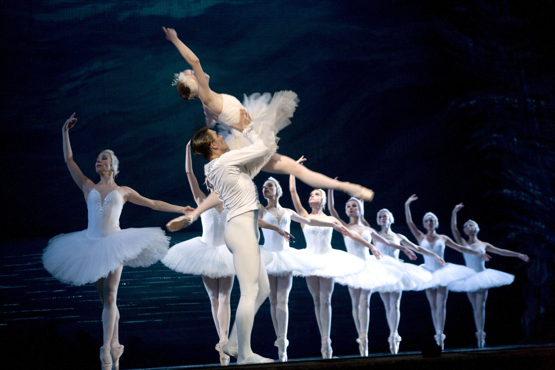People performing Swan Lake