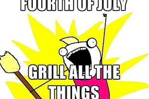 Grill All the Things Illustration