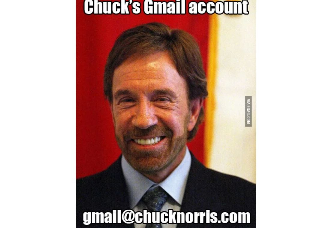 chuck norris gmail meme