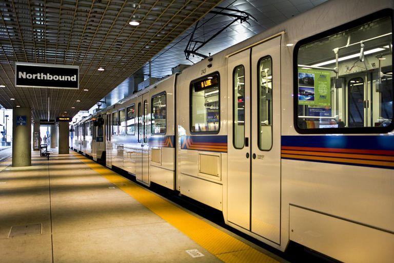 Light Rail train in station