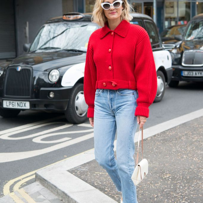Street style jeans and blouse