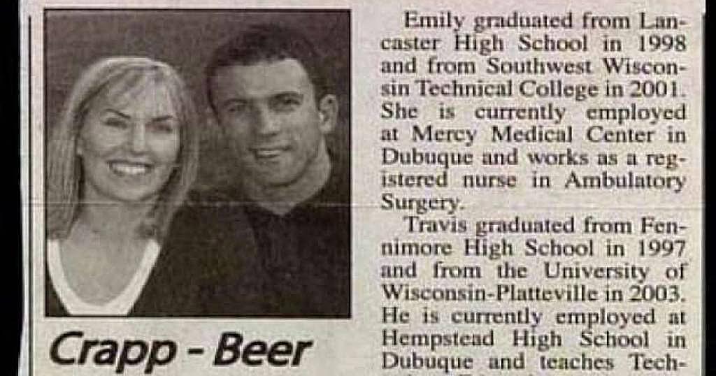 Crapp Beer Couple Name
