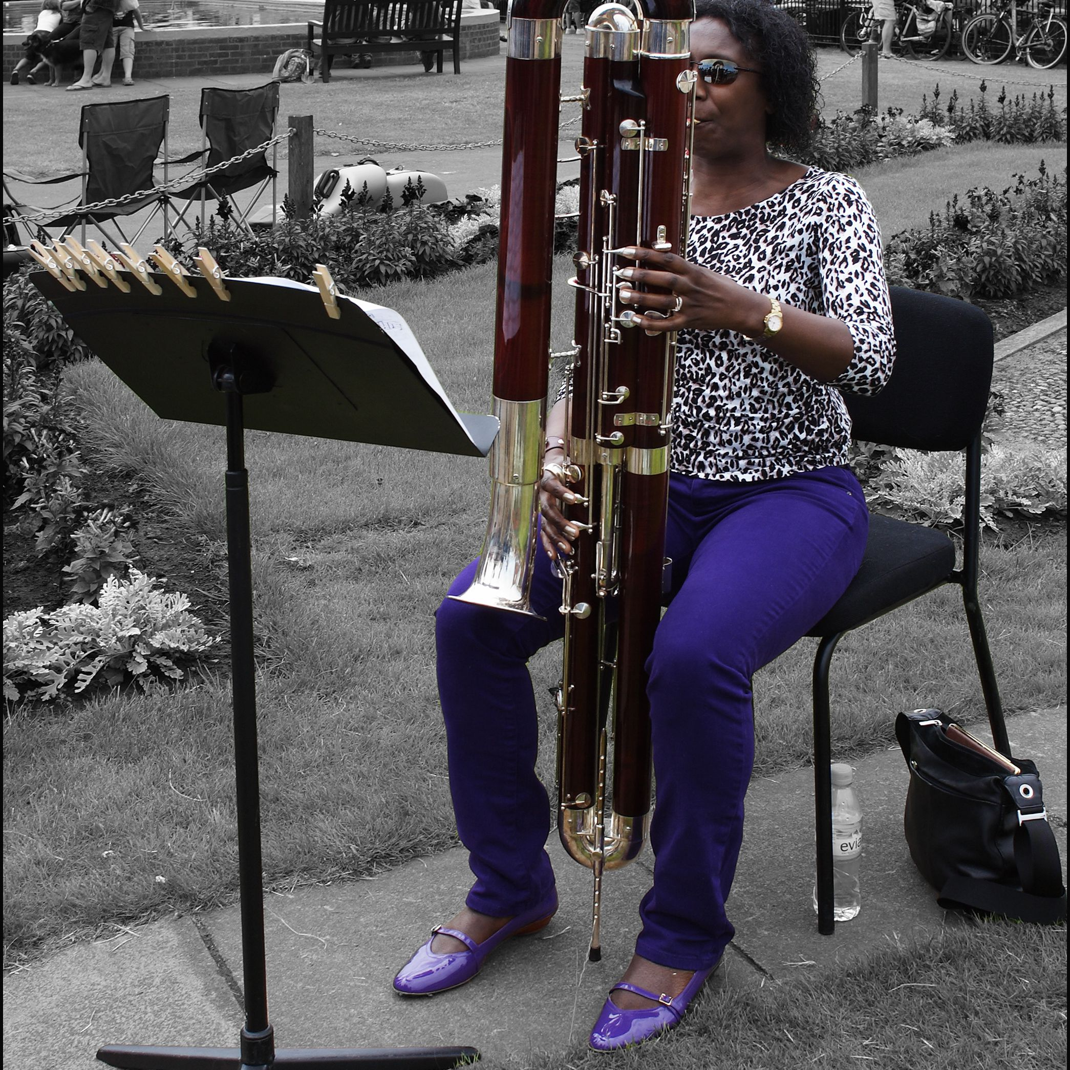 Contra-bassoonist Margaret Cookhorn