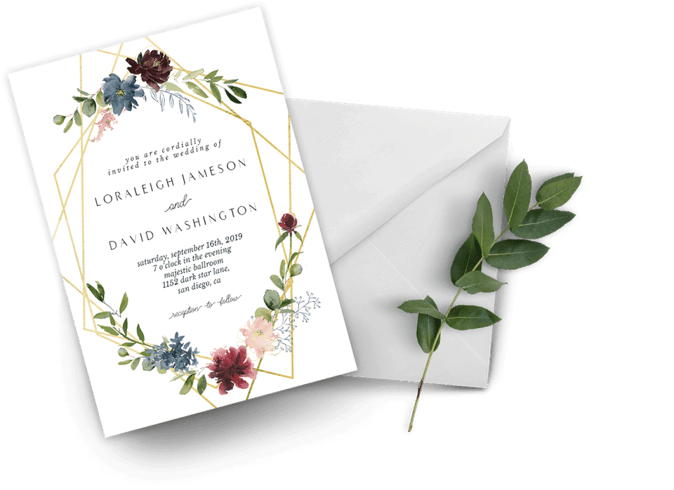 A floral wedding invitation template