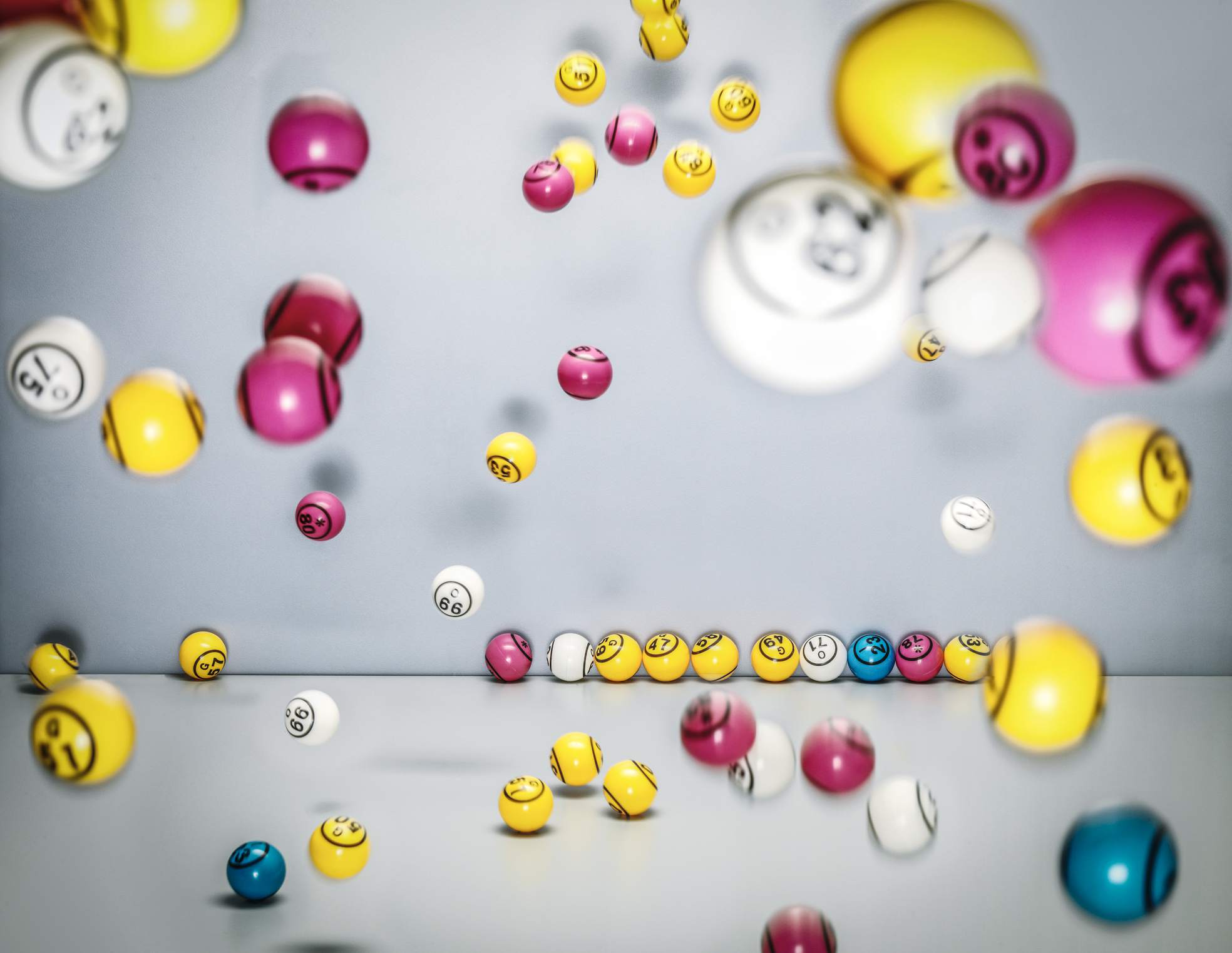 Image of Flying Lottery Balls