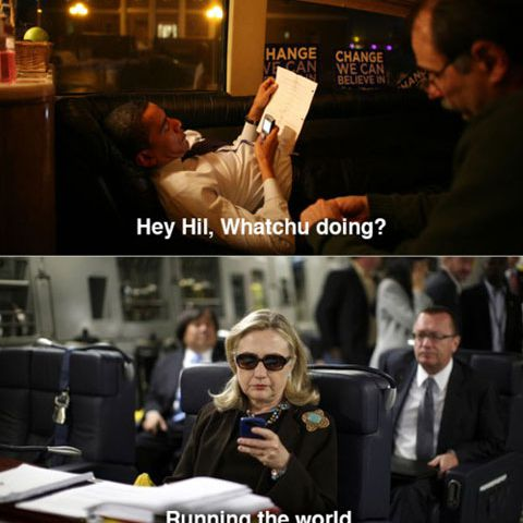 Hillary Text to Obama
