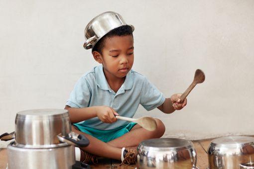A little drummer boy