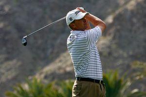 Steve Stricker hits a tee shot