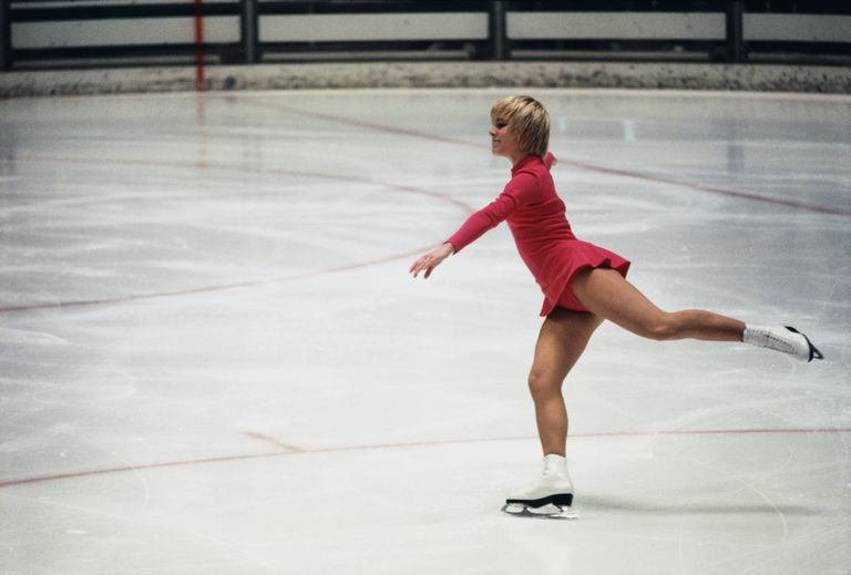 Bronze Medal Winner Janet Lynn gliding across the ice