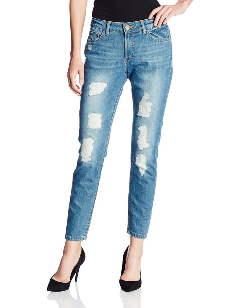 2d2681df0cd93 Petites  Skinny Boyfriend Jeans. DL1961 Nolita Destructed Jean