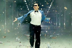 Screenshot from the Gangnam Style video