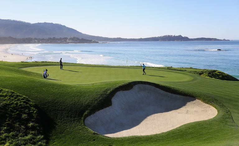 General view of Pebble Beach Golf Links, site of the 2019 US Open.