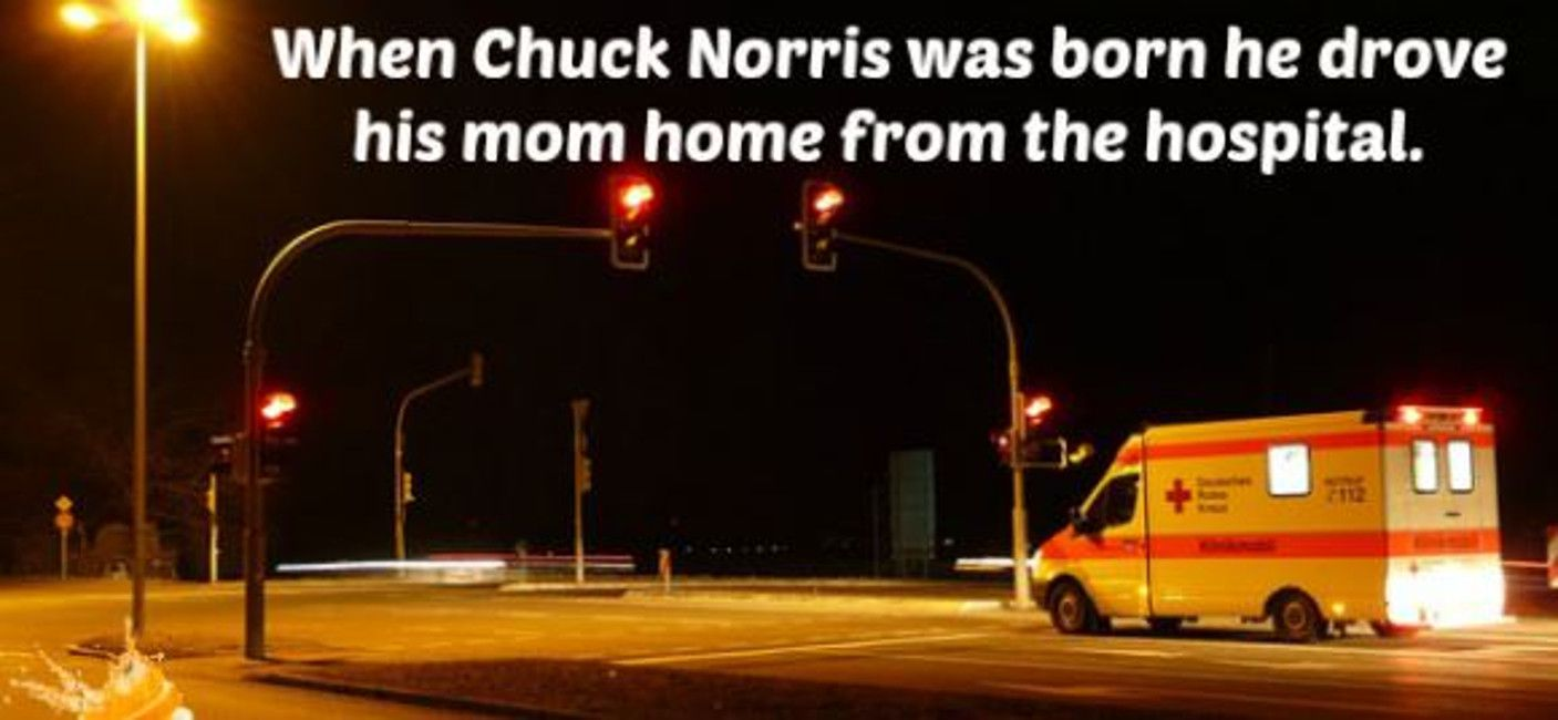 chuck norris born meme
