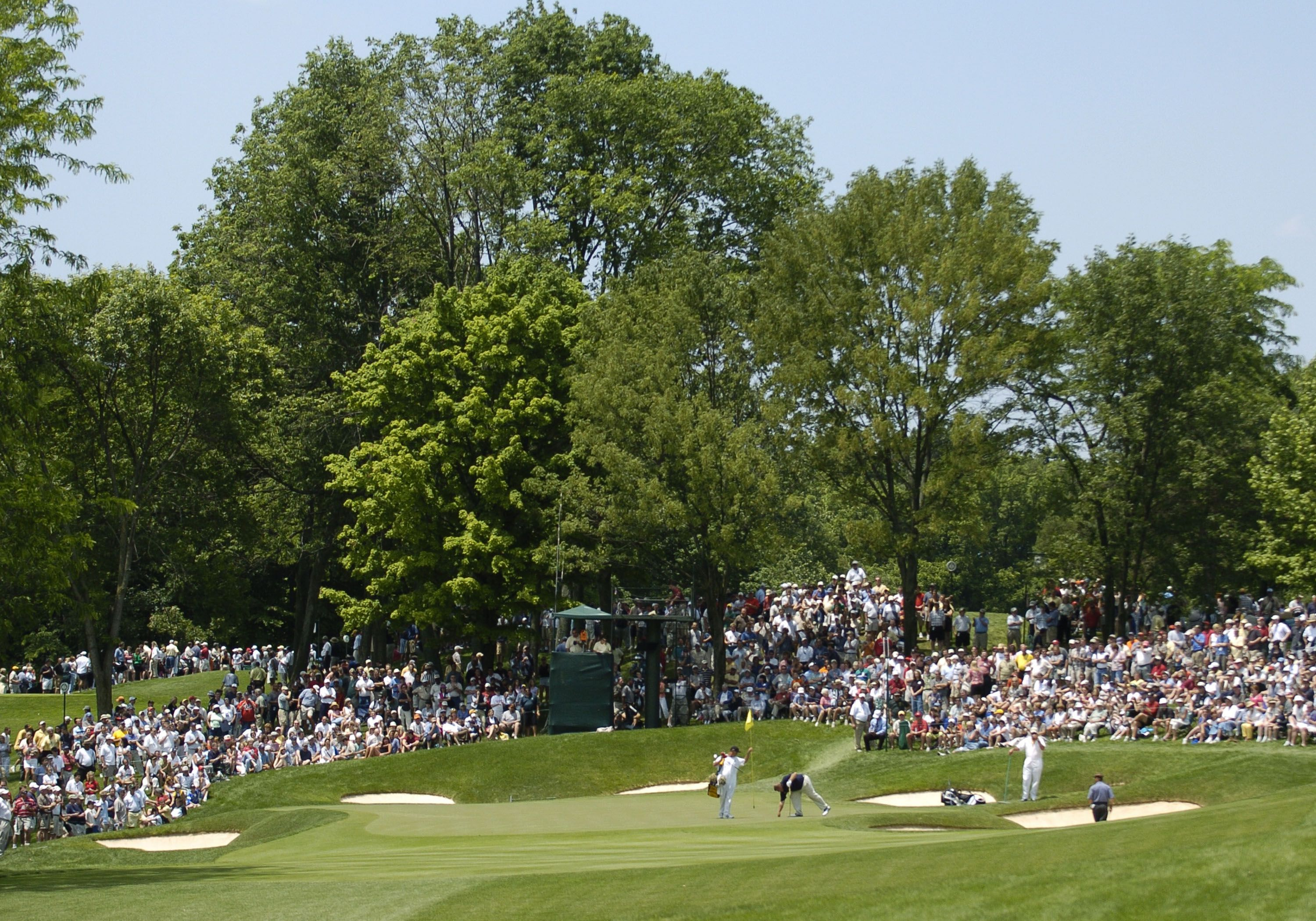 A view of the fourth green at Muirfield Village Golf Club.