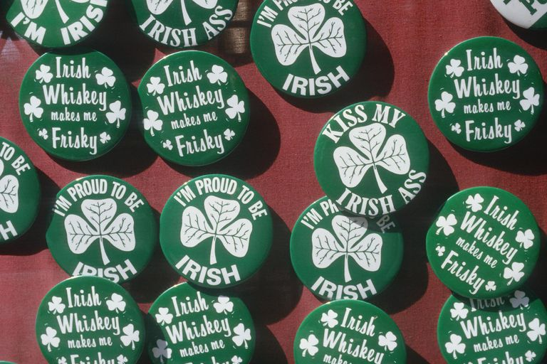 St. Patrick's Day buttons displaying Irish pride