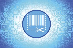 Store Coupon Icon on Internet Technology Background