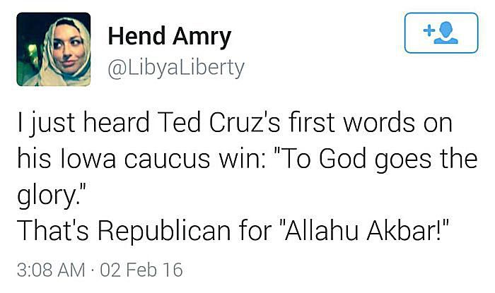 Ted Cruz Victory Words: To God Goes the Glory