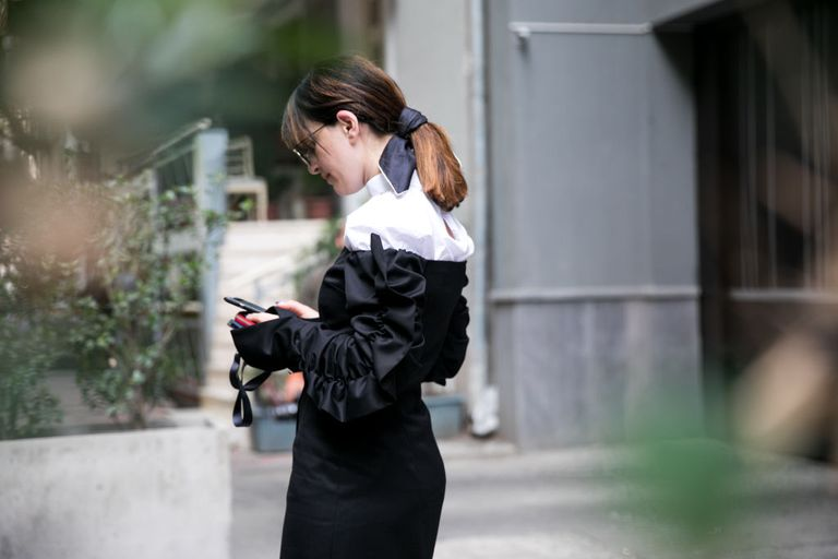 Female Looking at Phone