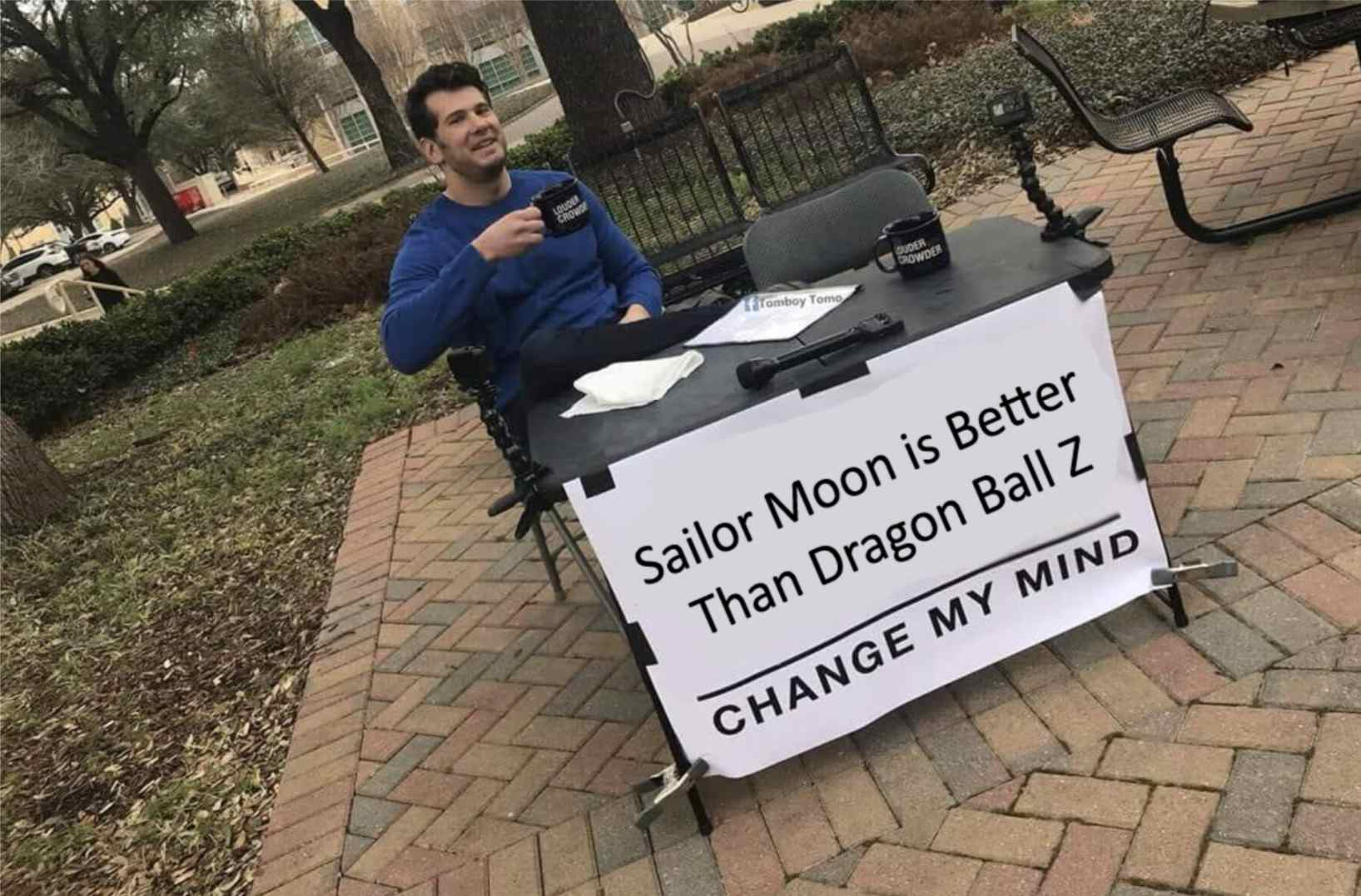 Louder With Crowder Sailor Moon and Dragon Ball Z anime meme