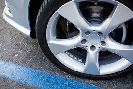 detail shot of an alloy wheel