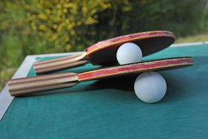 Table Tennis Racket and balls