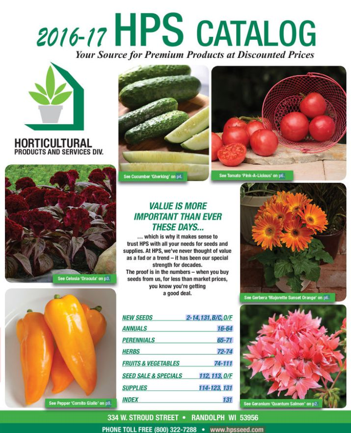 The free HPS seed catalog