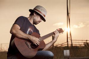 Blues guitar player