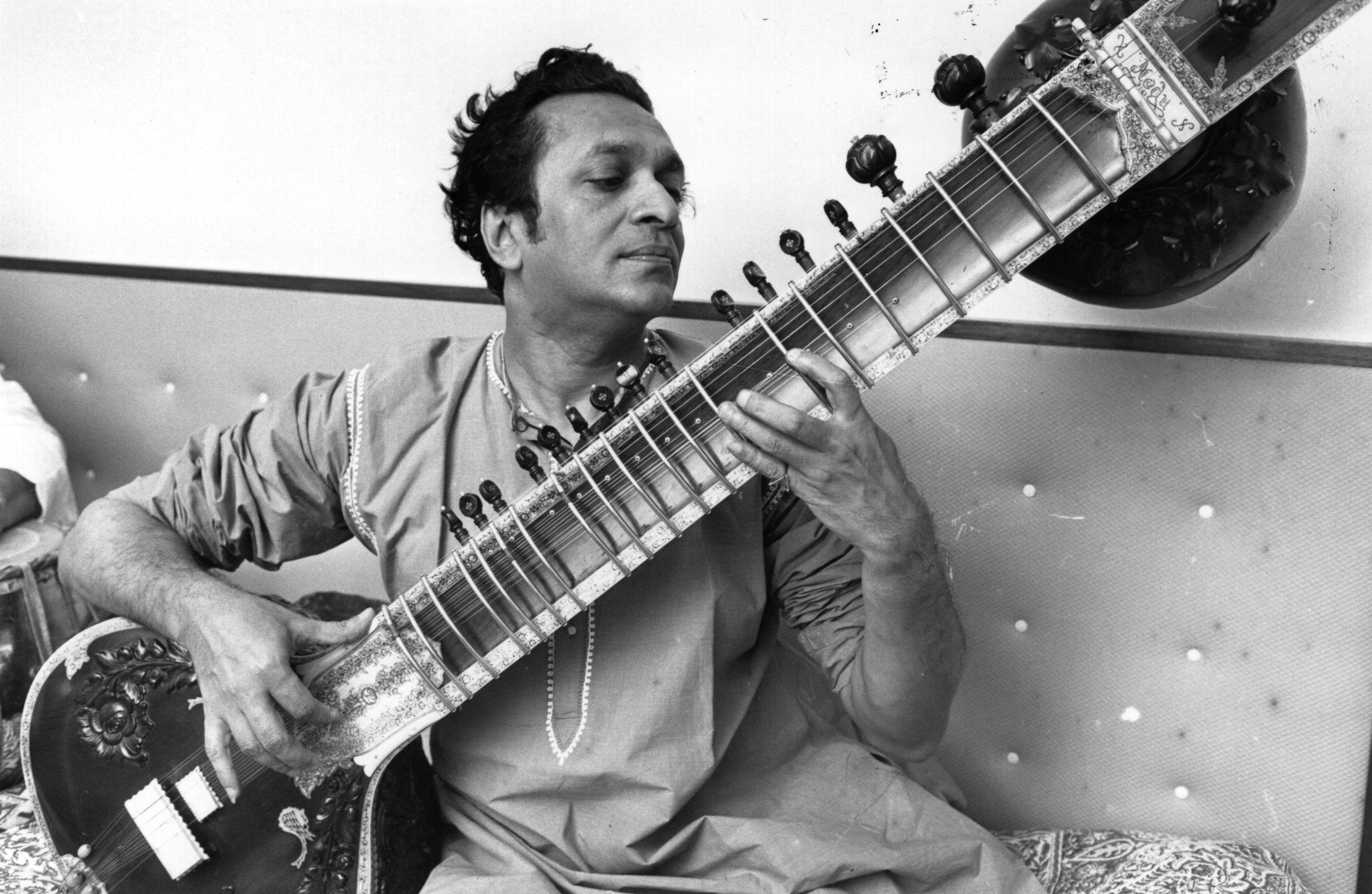 Ravi Shankar playing sitar