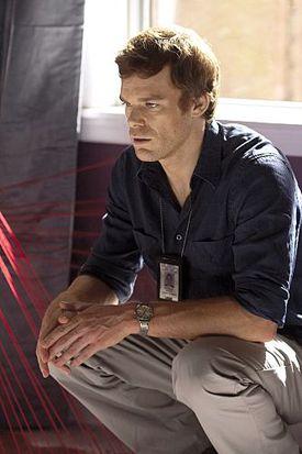 Michael C. Hall as Dexter in 'Dexter' (Season 3, Episode 1).