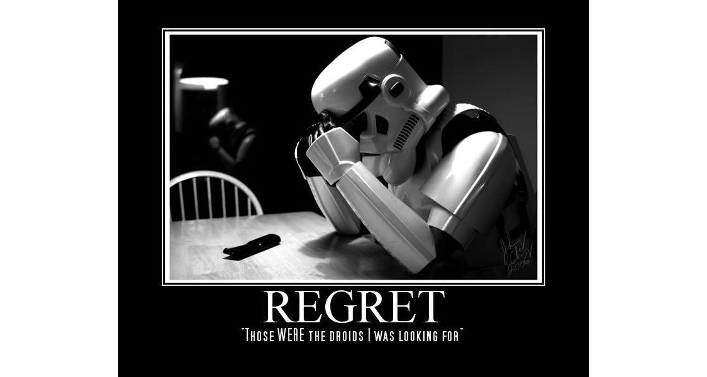 Storm Trooper Regrets meme