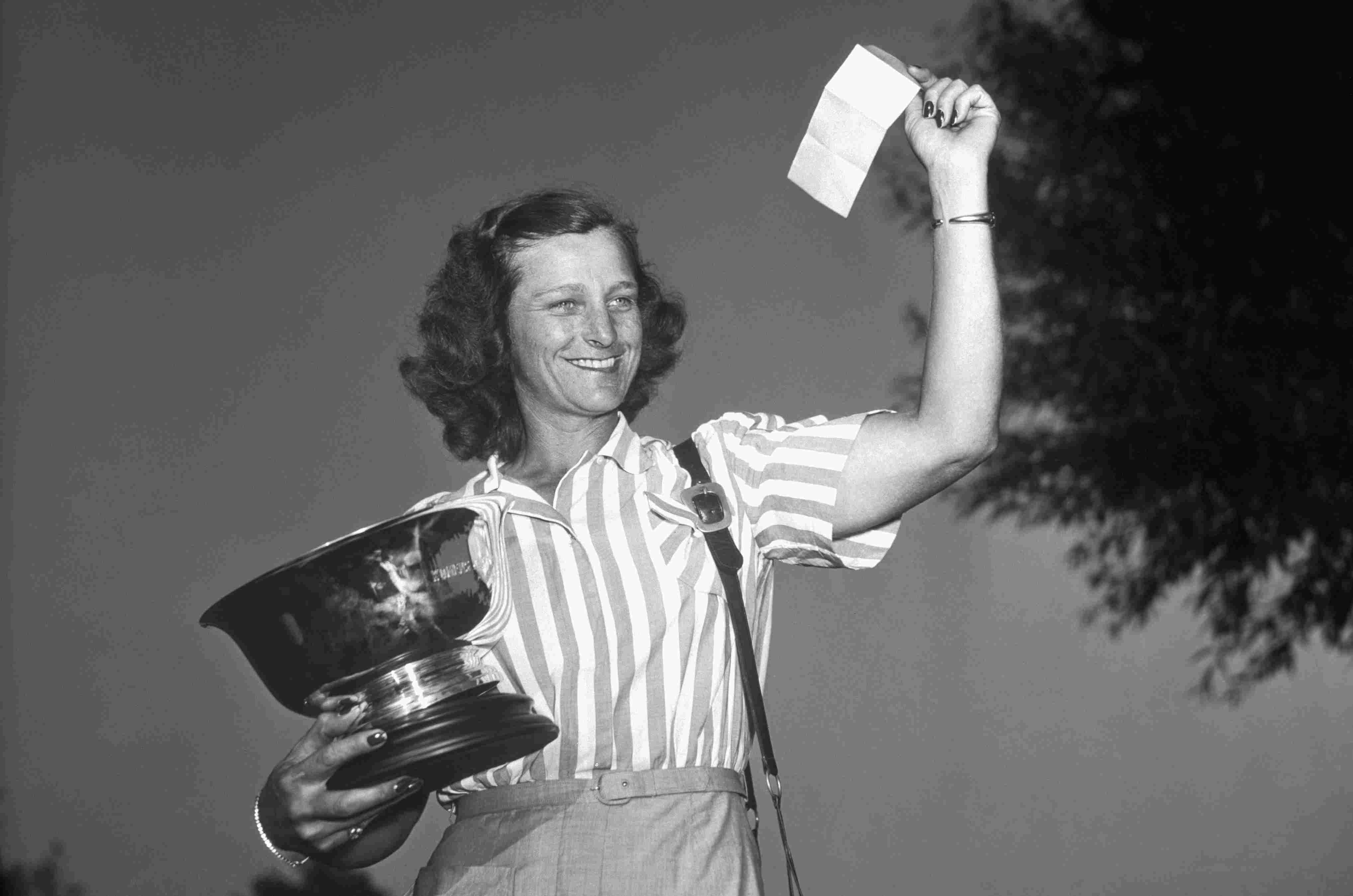 Babe Didrikson Zaharias after winning one of her U.S. Women's Open titles
