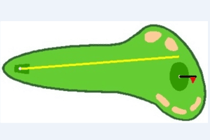 Illustrating the pull shot in golf