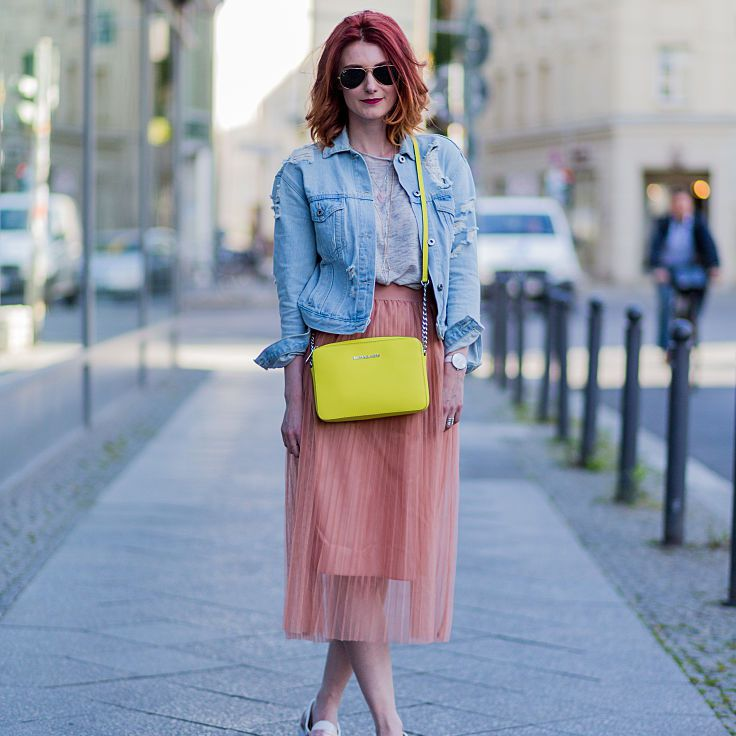 2812d0225a Spring Fashion - How to Wear a Denim Jacket and Skirt