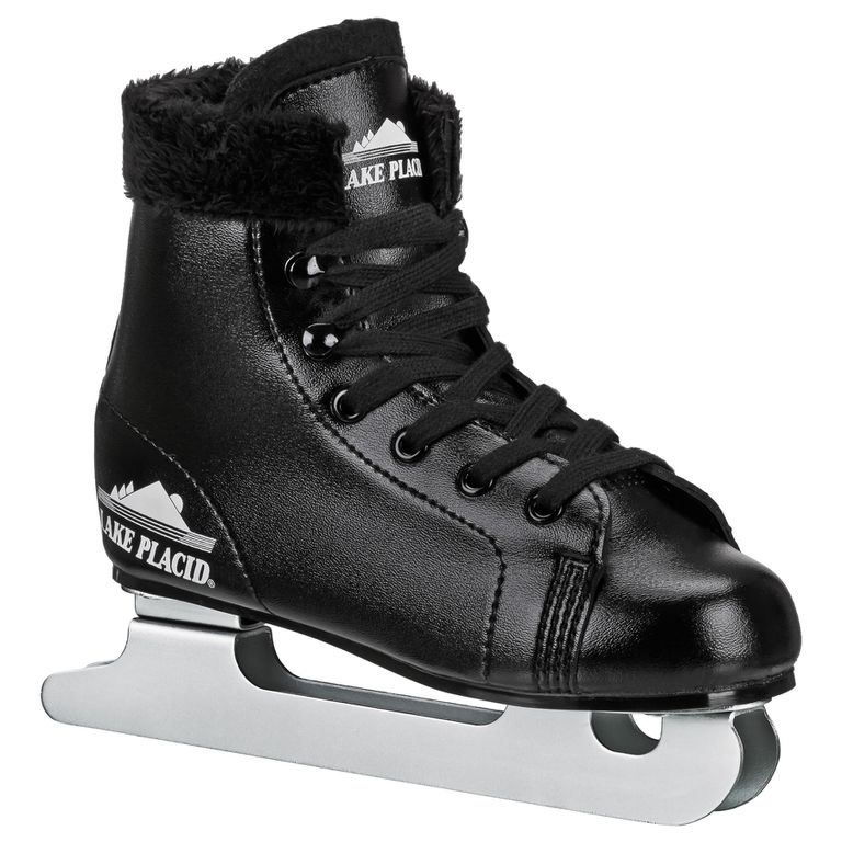 Boys double runner figure skate in black