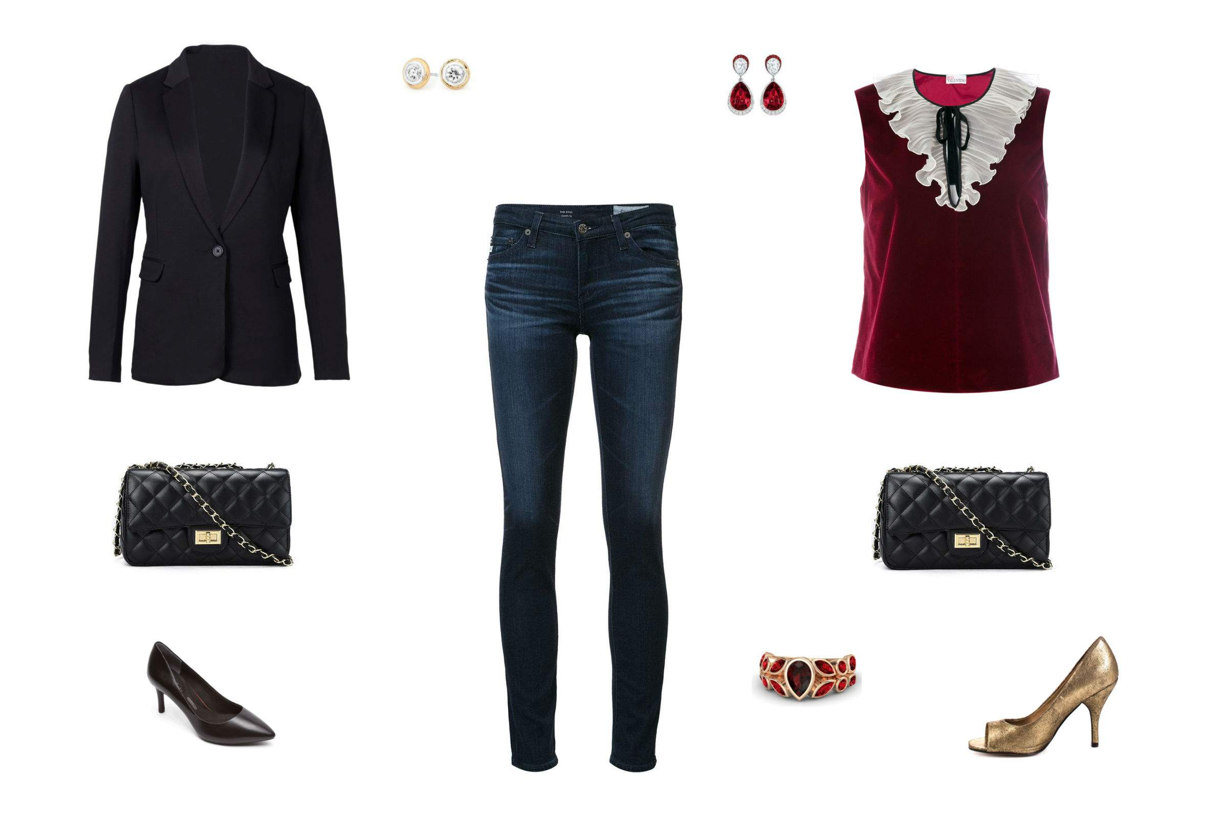 63311b0fff2 10 Ways to Dress Up Jeans for a Night Out