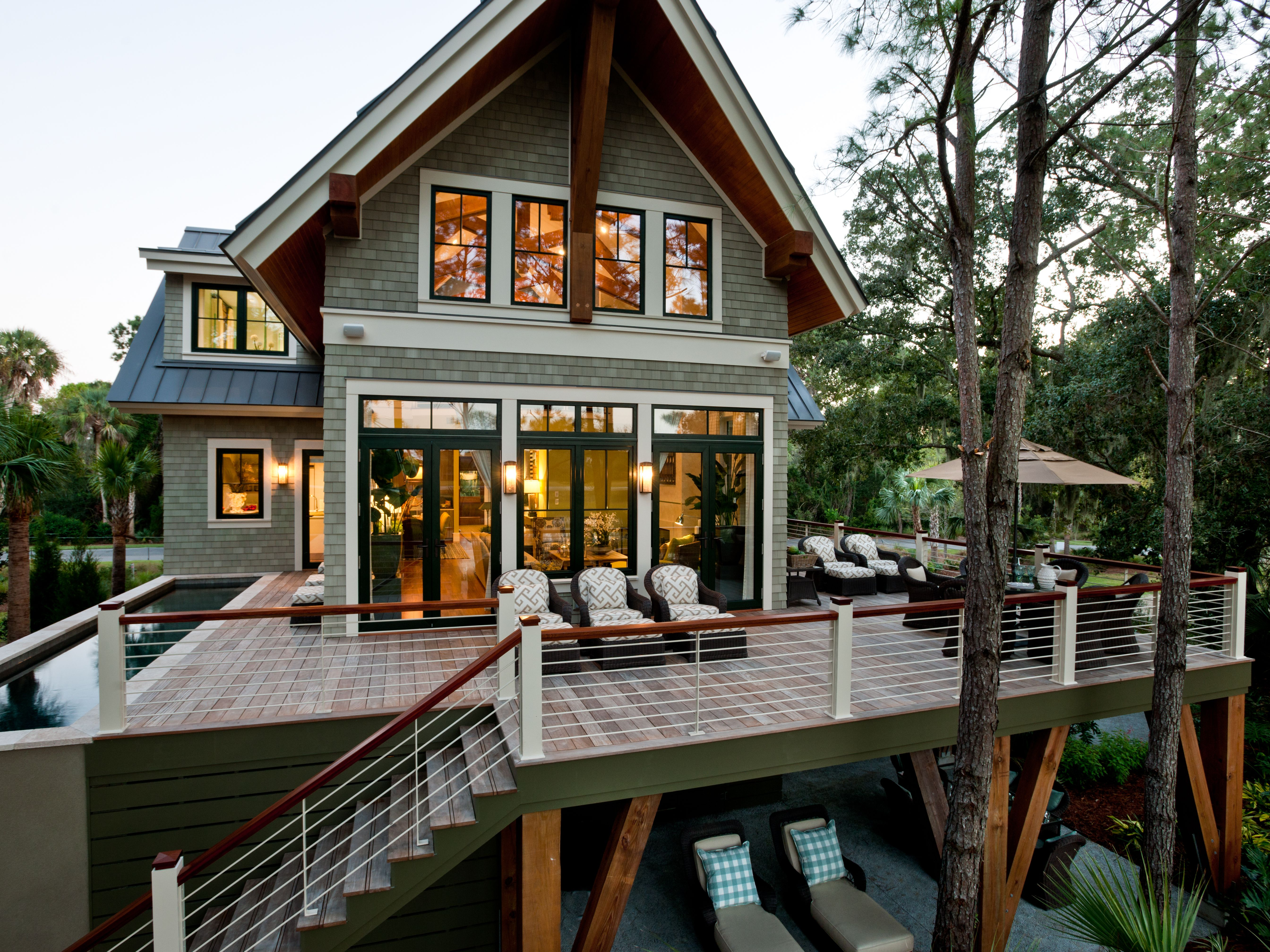 Exterior of the 2013 HGTV Dream Home.