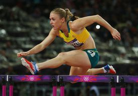 Sally Pearson of Australia competing in the hurdles at the 2012 London Olympics