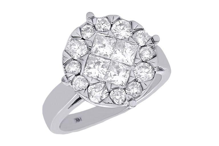 Invisible Setting Diamond Ring