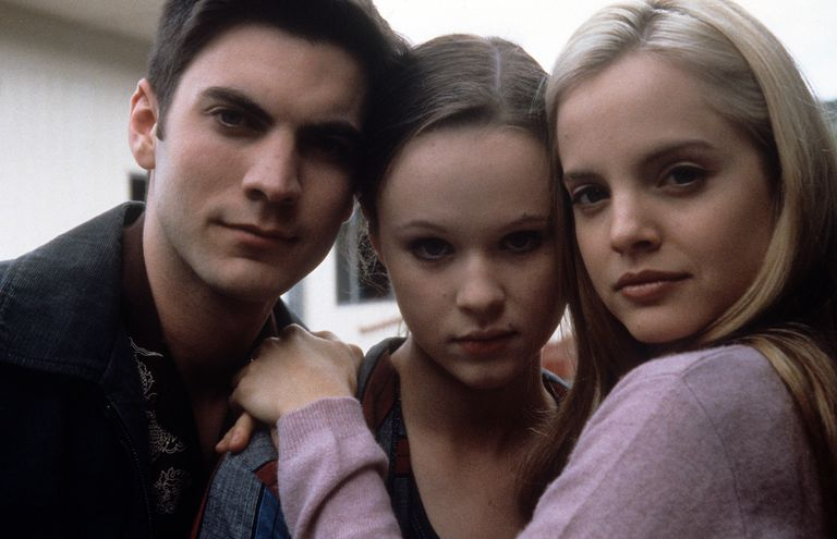 "Wes Bentley, Thora Birch, and Mena Suvari in ""American Beauty"""