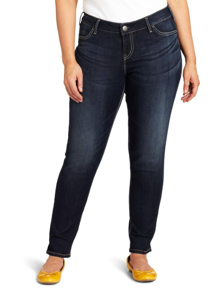 9d9145c0424 Silver Jeans Suki Mid-Rise Plus Size Skinny Jean