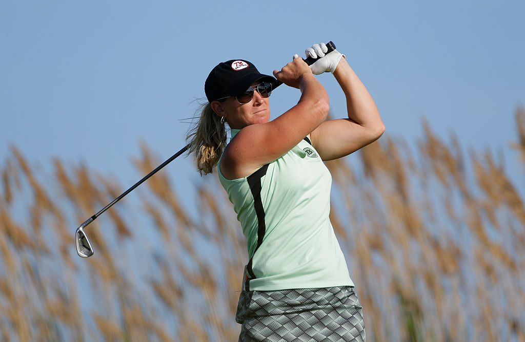 Kristy McPherson during the second round of the ShopRite LPGA Classic