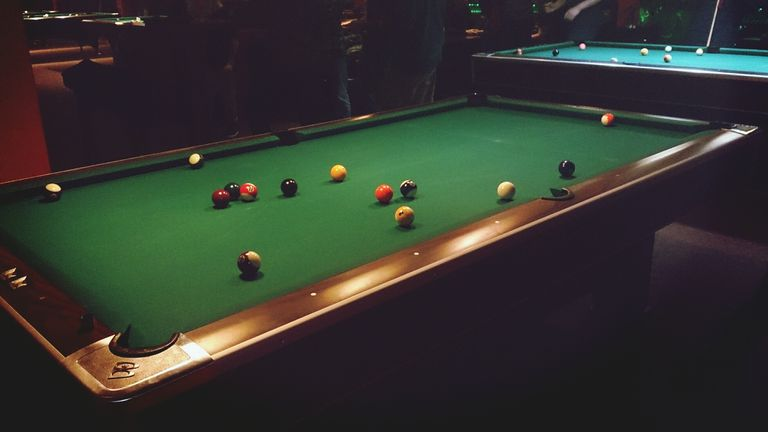 Pool Tables In Hall