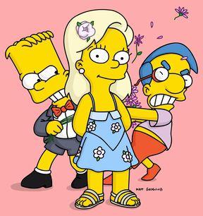 Bart, Greta and Milhouse
