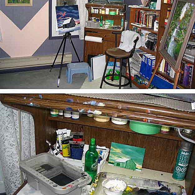 Painting studio or painting space photos