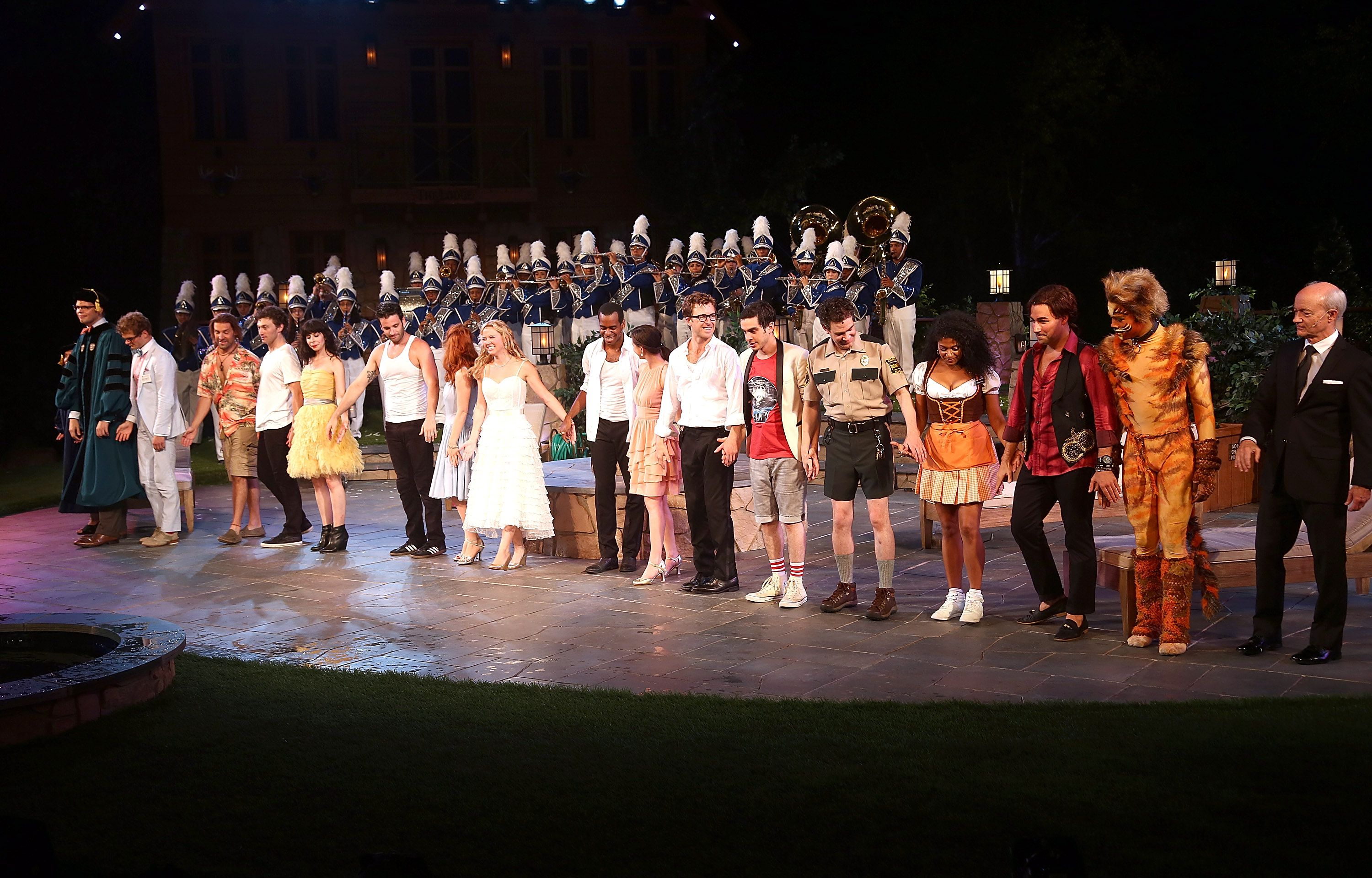 The curtain call for Love's Labour's Lost at Shakespeare in the Park, 2013