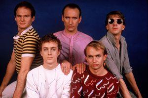 Australian rock group Men at Work - portrait circa 1983 in New York City.