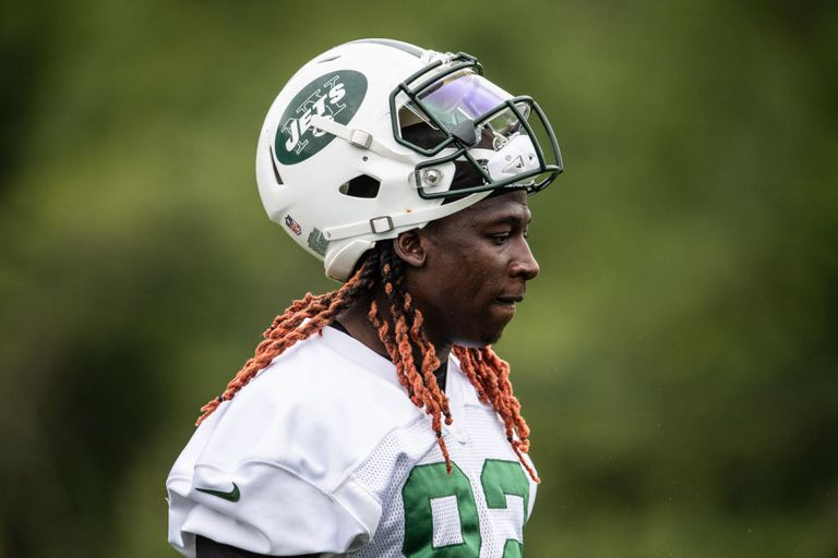 Wide receiver Lucky Whitehead #82 of the New York Jets