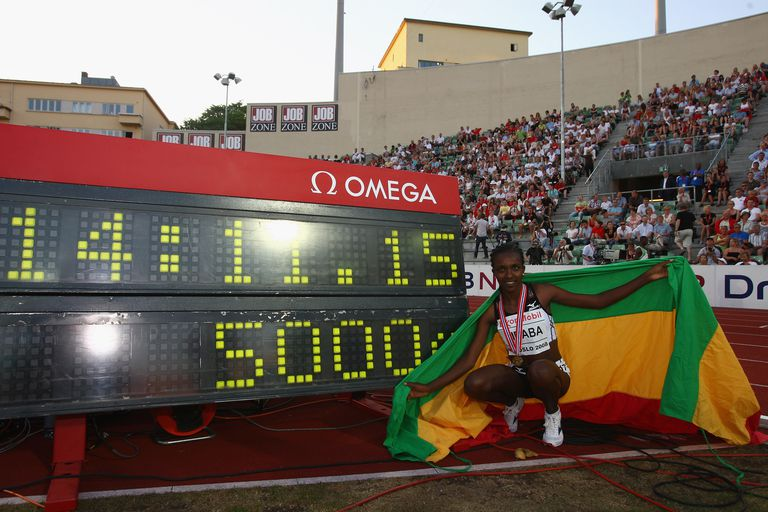 Tirunesh Dibaba set the 5000-meter world record in Oslo in 2008.