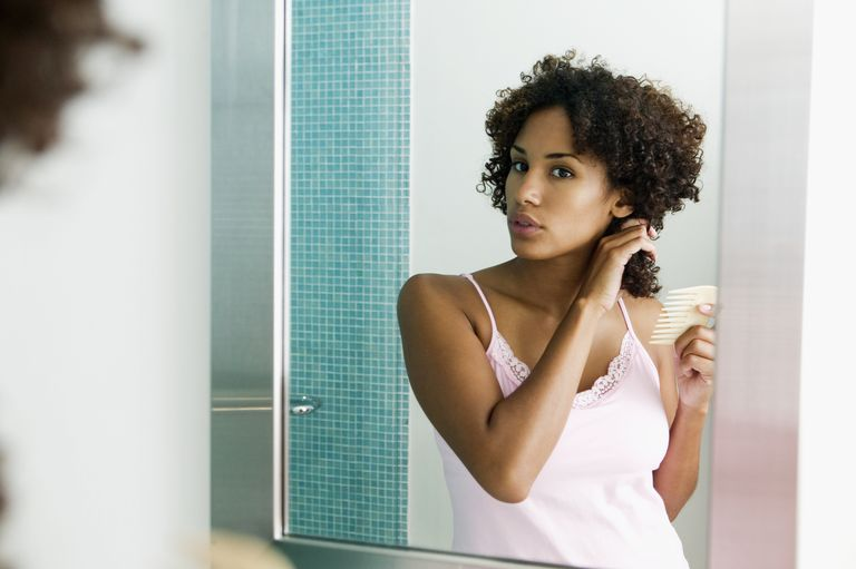Detangle your hair with your fingers before moving on to a comb.