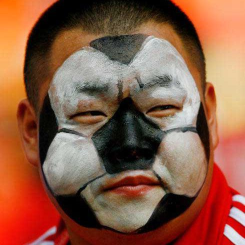 Face painting football design
